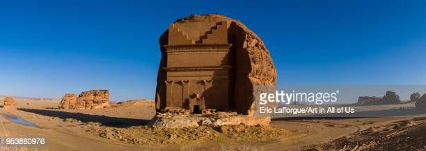 Qsar farid nabataean tomb in madain saleh archaeologic site, Al Madinah Province, Al-Ula, Saudi Arabia on January 23, 2010 in Al-ula, Saudi Arabia.