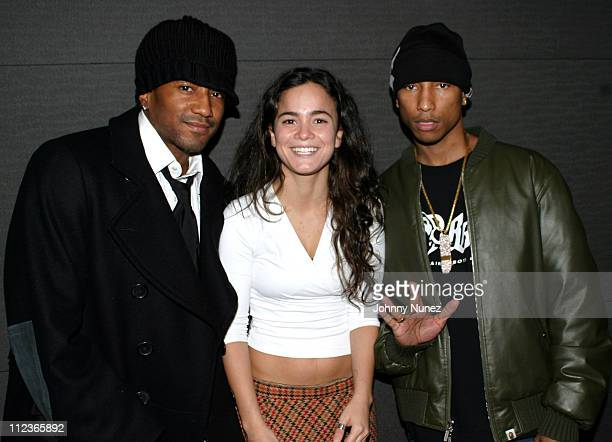 QTip Alice Braga and Pharrell Williams during 'City of God' Special Screening at The SoHo House in New York City New York United States