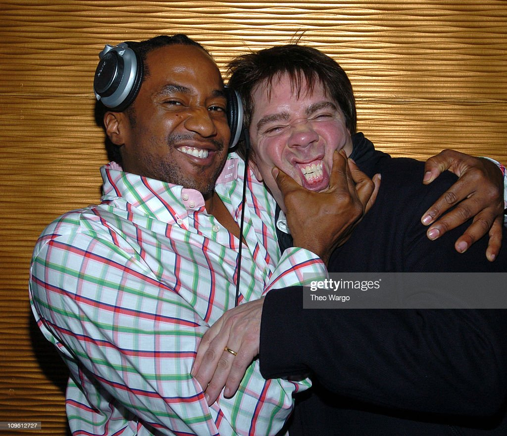 Q-Tip and Andy Hilfiger during H Hilfiger Spring 2004 - After Party at  Marquee