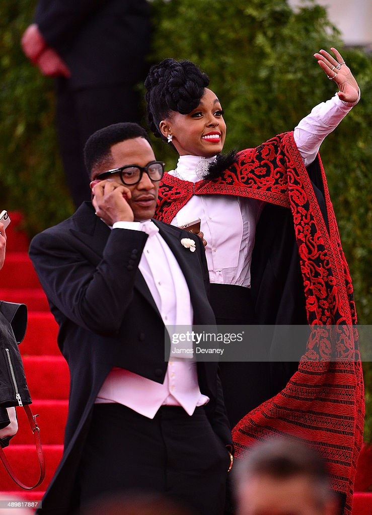Q-Tip and Janelle Monae attend the 'Charles James: Beyond Fashion' Costume Institute Gala at the Metropolitan Museum of Art on May 5, 2014 in New York City.