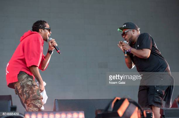 QTip and Jarobi White of A Tribe Called Quest perform at the 2017 Panorama Music Festival at Randall's Island on July 30 2017 in New York City