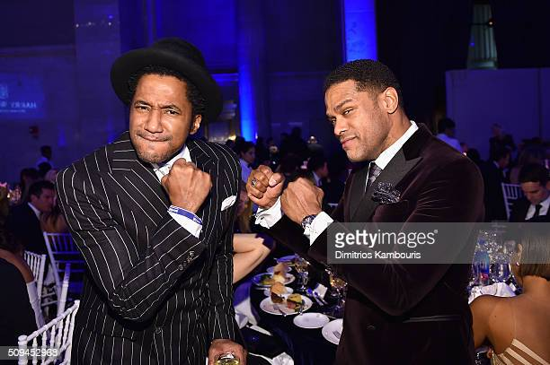 Tip and Maxwell attend the 2016 amfAR New York Gala at Cipriani Wall Street on February 10 2016 in New York City