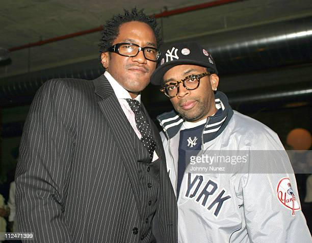 QTip and Spike Lee during QTip's Birthday Party Presented by Bacardi Flavors at Mobilia Loft at Private Loft in New York City New York United States