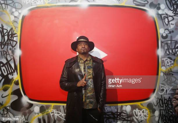 Tip attends YouTube brings the BOOM BAP BACK to New York City With Lyor Cohen Nas Grandmaster Flash QTip Chuck D and Fab 5 Freddy on January 26 2018...