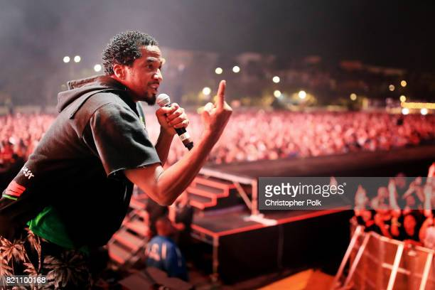 Tip of A Tribe Called Quest performs onstage during day 2 of FYF Fest 2017 at Exposition Park on July 22 2017 in Los Angeles California