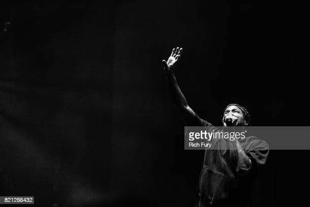 QTip of A Tribe Called Quest performs onstage during day 2 of FYF Fest 2017 at Exposition Park on July 22 2017 in Los Angeles California