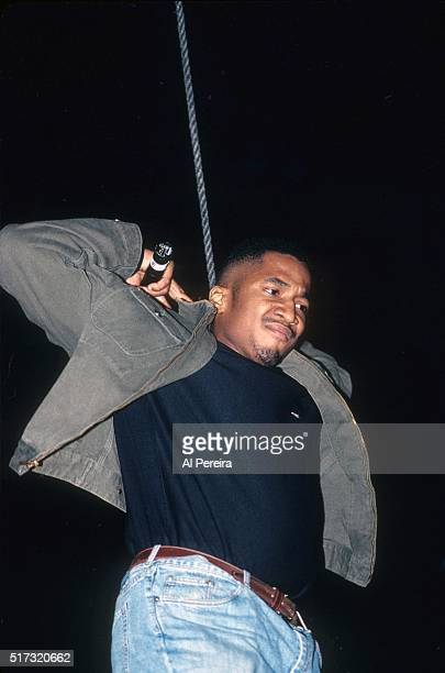 Tip of the hip hop group 'A Tribe Called Quest' performs in January 1992 in New York City New York