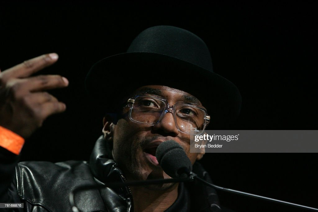 Q-Tip speaks onstage at the 2007 J.A.M. awards and concert at Hammerstein Ballroom on November 29, 2007 in New York City.