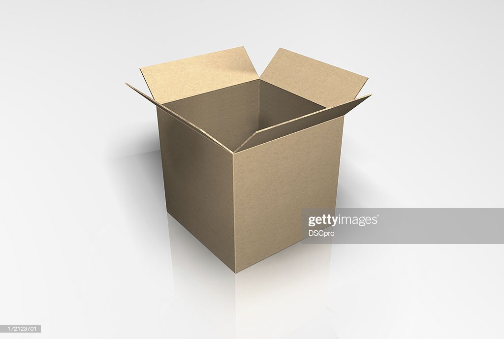 3D Box Quad : Stock Photo