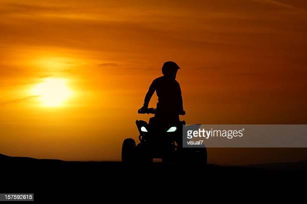 Quadbike in the sunset