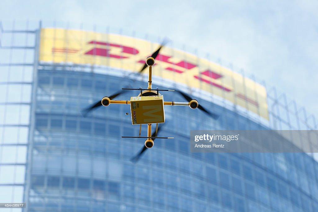 Deutsche Post Tests Deliveries With Drones : News Photo