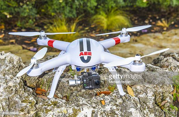 Quadcopter Drone mounted with S50 Action Camera as seen at Brand Innovators at SXSW on March 12 2016 in Austin Texas