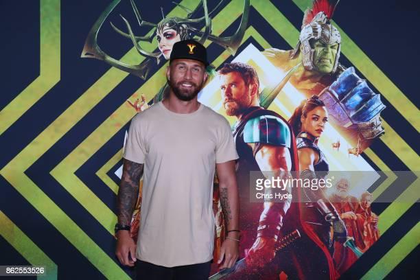 Quade Cooper arrives for the Thor Ragnarok Australian Premiere at Event Cinemas Robina on October 13 2017 in Gold Coast Australia