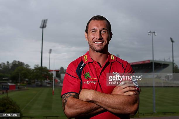 Quade Cooper poses after a press conference to announce he is staying with the Queensland Reds at Ballymore Stadium on December 7 2012 in Brisbane...