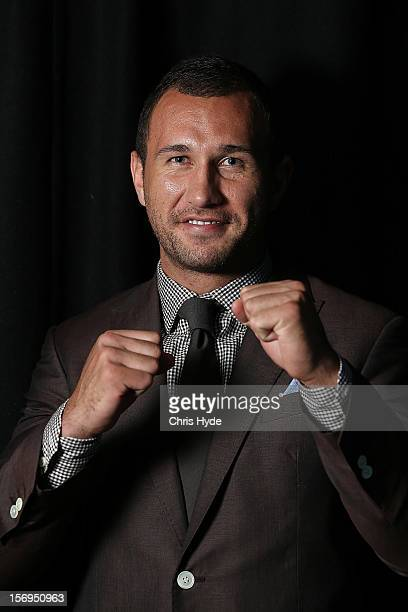 Quade Cooper poses for a photograph after a press conference at Brisbane Entertainment Centre on November 26, 2012 in Brisbane, Australia.