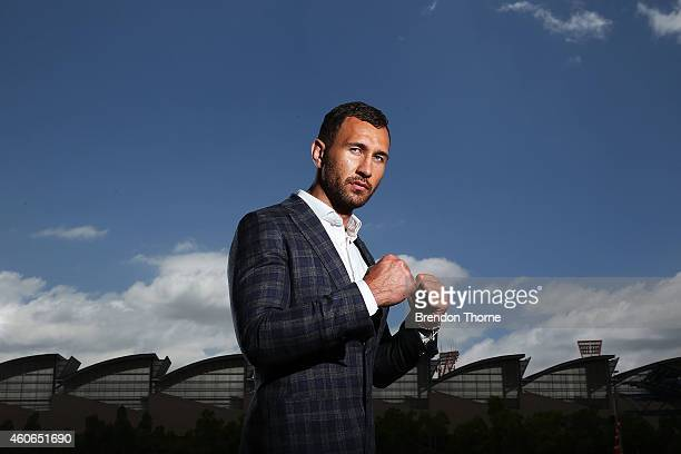 Quade Cooper poses for a photograph following a press conference at Allphones Arena on December 19 2014 in Sydney Australia