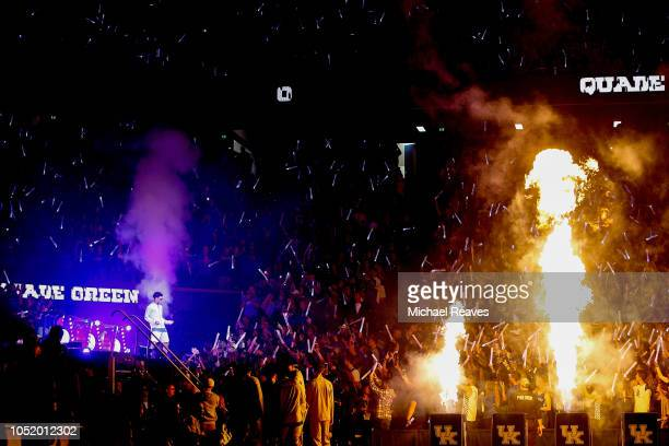 Quade Green of the Kentucky Wildcats is introduced at Rupp Arena on October 12 2018 in Lexington Kentucky