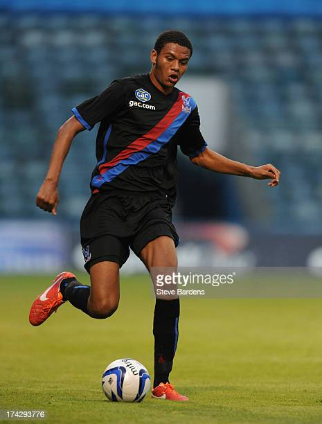 Quade Taylor of Crystal Palace in action during the pre season friendly match between Gillingham and Crystal Palace at Priestfield Stadium on July 23...