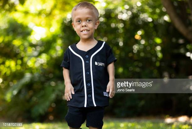 Quaden Bayles poses for a portrait on April 13, 2020 in Brisbane, Australia. 9-year-old Quaden Bayles, who born with achondroplasia dwarfism, is an...