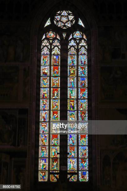 Quadrifore stained-glass window, Orvieto Cathedral.