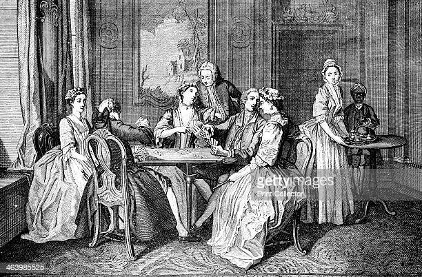 'Quadrille le Quadrille' 1743 Quadrille was the name of a dance and also of a card game Illustration from Social Caricature in the Eighteenth Century...