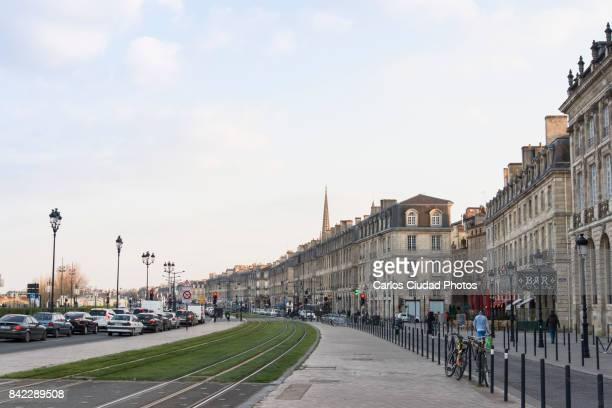 quai richelieu in bordeaux, gironde, aquitaine, france - aquitaine stock photos and pictures