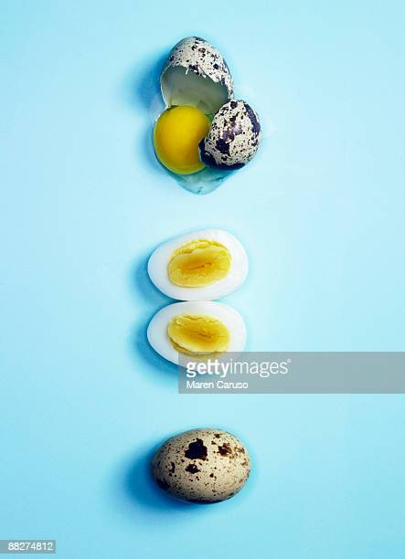 Quail eggs deconstructed