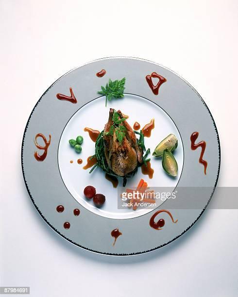 Quail novelle cuisine