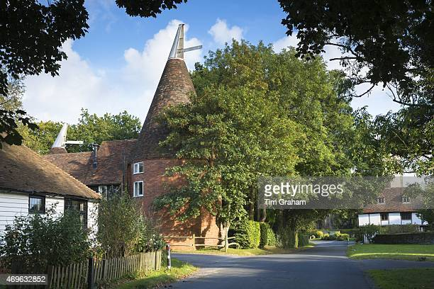 Quaint attractive village of Smarden with traditional Kentish oast house in High Weald in Kent England UK