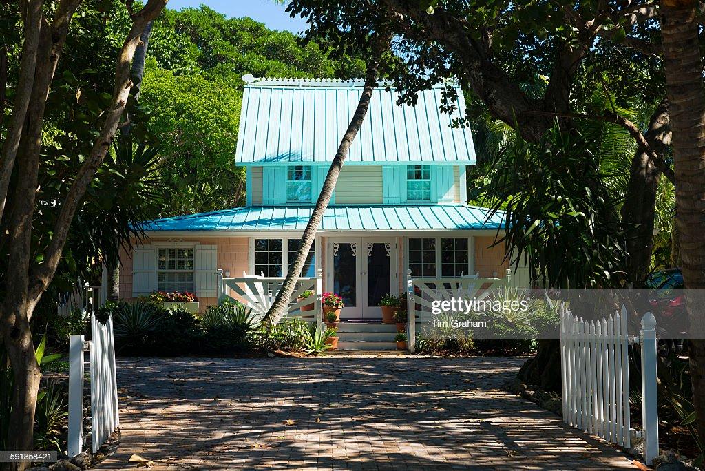 Quaint Winter Home, Captiva, Florida, USA : News Photo