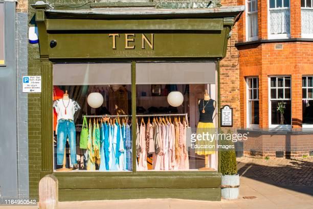 Quaint little dress shop on Market place Downham Market Norfolk East Anglia England UK