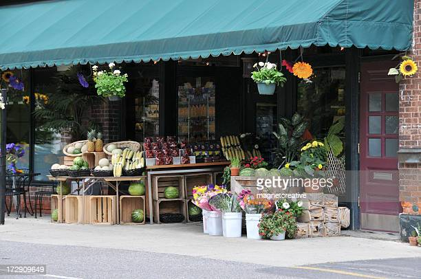 quaint neighborhood market - community building stock pictures, royalty-free photos & images