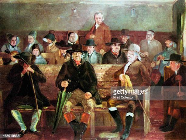 Quaker meeting, 1839. The Protestant denomination known as the Society of Friens, or the Quakers, originated in England in the mid 17th century. It...