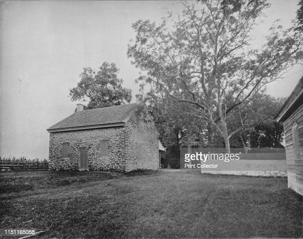 Quaker Meeting House Battlefield of Princeton New Jersey' circa 1897 Stony Brook Meeting House built by Europeans who settled in Princeton with the...