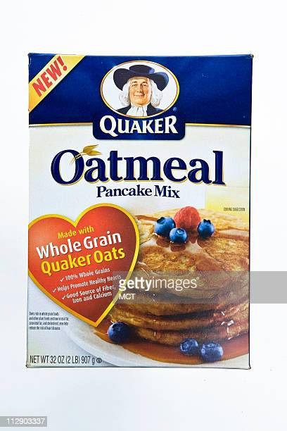 Quaker Oatmeal Pancake Mix, because it's made from whole grain Quaker Oats, packs your stack of pancakes with the same heart-healthy oat soluble...
