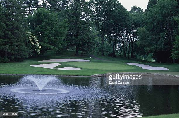 Quaker Ridge Golf Club in Scarsdale New York state June 1997 Hole 5 par 9 181 yards