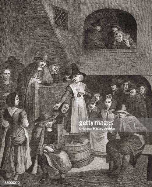Quaker's Meeting In The Seventeenth Century. From The Book Short History Of The English People By J.R. Green Published London 1893.