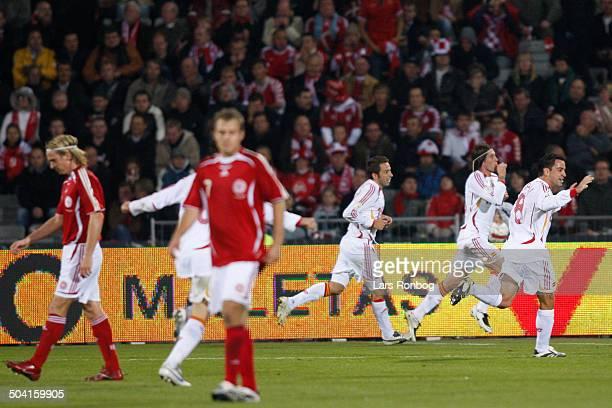 Qual. - Sergio Ramos Garcia, Spain made the 2-0 goal against Denmark. © Lars Rønbøg / Frontzonesport.dk.