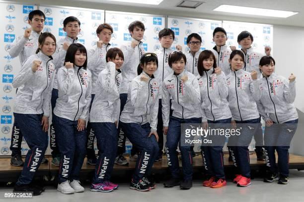 Qualified skaters Ayaka Kikuchi Ayano Sato Nana Takagi Miho Takagi Nao Kodaira Arisa Go Erina Kamiya and Misaki Oshigiri Ryosuke Tsuchiya Seitaro...