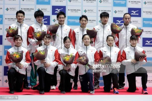 Qualified trampoline gymnasts Chisato Doihata Hikaru Mori Reina Satake Megu Uyama Ayano Kishi and Yumi Takagi Daiki Kishi Hiroto Unno Ryosuke Sakai...