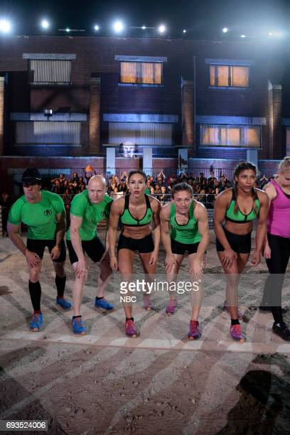 CHALLENGE Qualifiers Night 2 Episode 201 Pictured Lance Pekus Kevin Bull Maggi Thorne Michelle Warnky Meagan Martin of team The Ninjas
