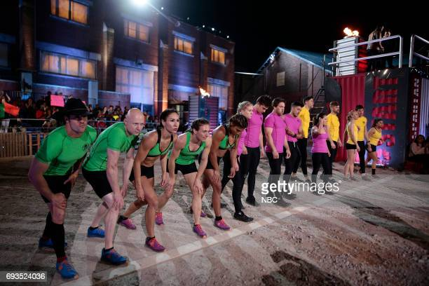 CHALLENGE Qualifiers Night 2 Episode 201 Pictured Lance Pekus Kevin Bull Maggi Thorne Michelle Warnky Meagan Martin of team The Ninjas Janelle...