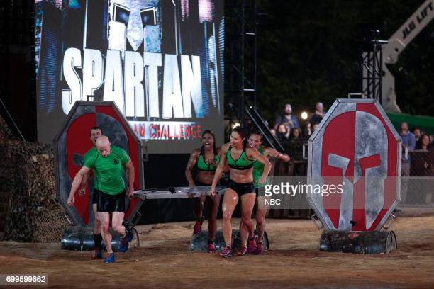 CHALLENGE Qualifiers Night 2 Episode 201 Pictured Lance Pekus Kevin Bull Meagan Martin Maggi Thorne Michelle Warnky of team The Ninjas