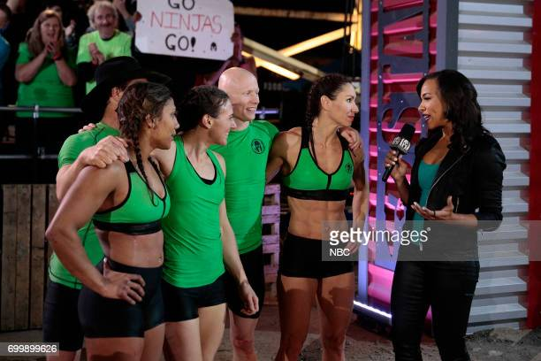 CHALLENGE Qualifiers Night 2 Episode 201 Pictured Lance Pekus Meagan Martin Michelle Warnky Kevin Bull Maggi Thorne of team The Ninjas Sideline...