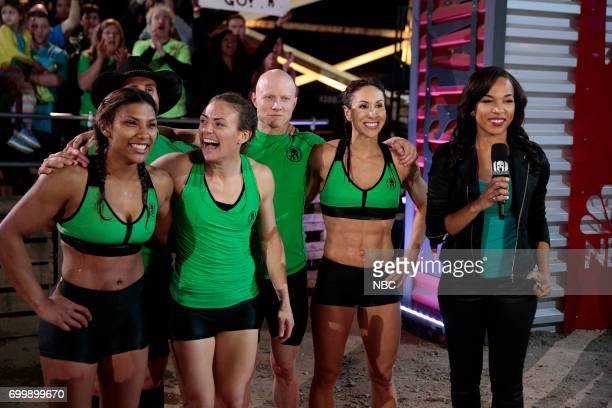 CHALLENGE Qualifiers Night 2 Episode 201 Pictured Meagan Martin Lance Pekus Michelle Warnky Kevin Bull Maggi Thorne of team The Ninjas Sideline...