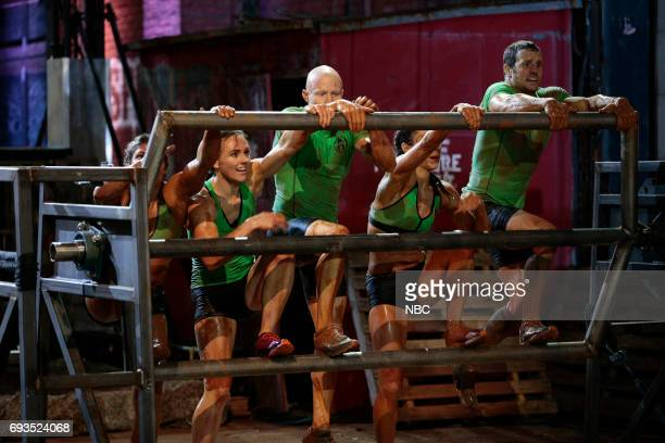 CHALLENGE Qualifiers Night 2 Episode 201 Pictured Meagan Martin Michelle Warnky Kevin Bull Maggi Thorne Lance Pekus of team The Ninjas