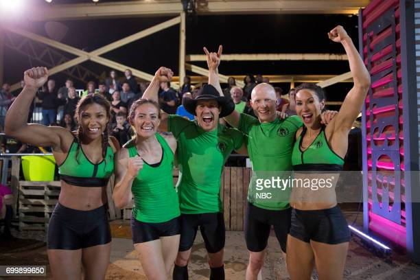 CHALLENGE Qualifiers Night 2 Episode 201 Pictured Meagan Martin Michelle Warnky Lance Pekus Kevin Bull Maggi Thorne of team The Ninjas