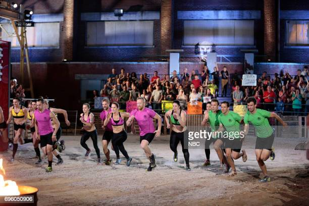 CHALLENGE Qualifiers Night 3 Episode 203 Pictured Tyler Mccredie Jessica Textoris Jeremy Katopol Brooke Bowen Bryan Tremaine of team Kid Courage...