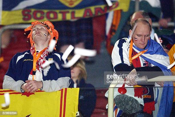 Enttaeuschte schottische Fans