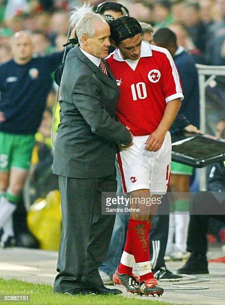 Qualifikation 2003 Basel Schweiz Irland vl Trainer Jakob KUHN Hakan YAKIN